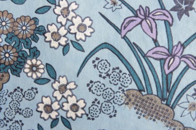 Hand-Dyed Yuzen Washi Paper - 024 Blue