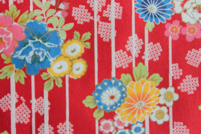 Hand-Dyed Yuzen Washi Paper - 055 Red