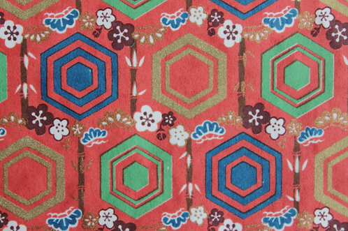 Hand-Dyed Yuzen Washi Paper - 054 Red