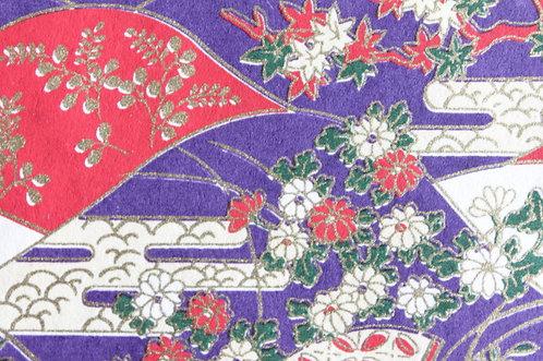 Hand-Dyed Yuzen Washi Paper - 022 Purple