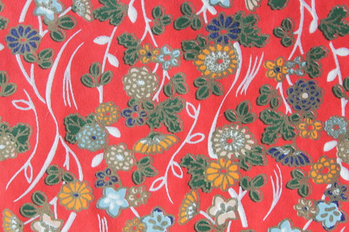 Hand-Dyed Yuzen Washi Paper - 029 Red