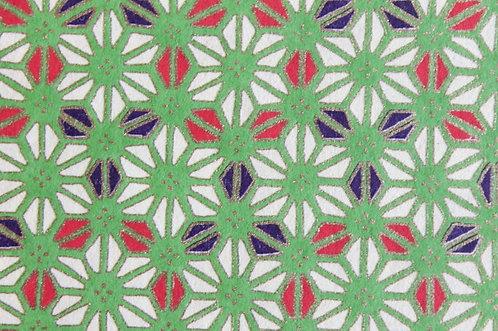 Hand-Dyed Yuzen Washi Paper - 010 Green