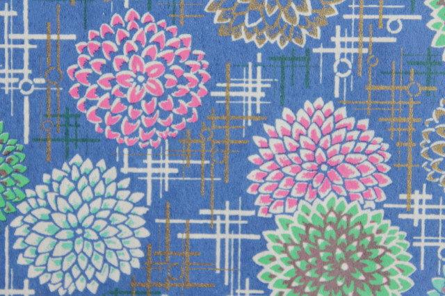 Hand-Dyed Yuzen Washi Paper - 057 Blue