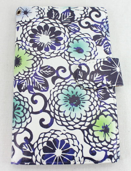 Wallet Mobile Phone Case Cover - Chrysanthemum