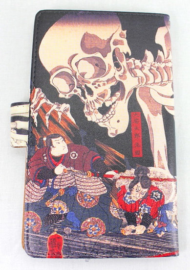Wallet Mobile Phone Case Cover - Giant Skeleton, Kuniyoshi
