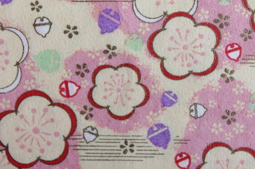 Hand-Dyed Yuzen Washi Paper - 023 Pink