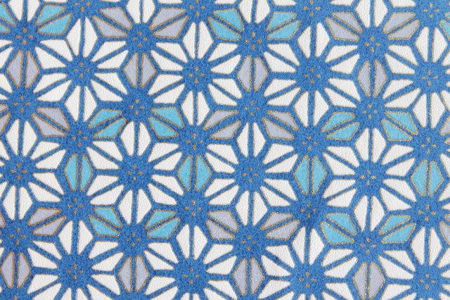 Hand-Dyed Yuzen Washi Paper - 010 Blue
