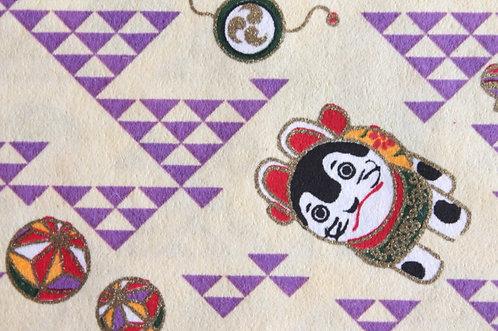 Hand-Dyed Yuzen Washi Paper - 018 purple