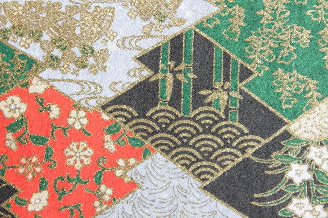Hand-Dyed Yuzen Washi Paper - 028 Black