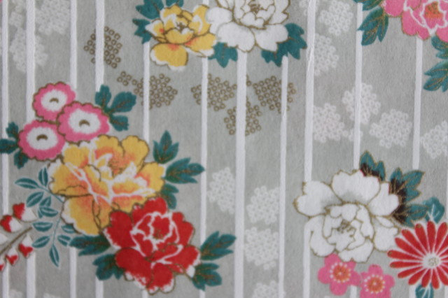 Hand-Dyed Yuzen Washi Paper - 055 Gray