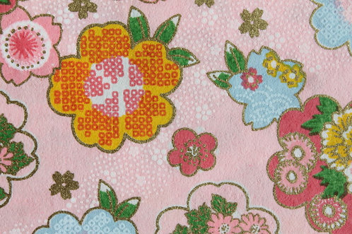 Hand-Dyed Yuzen Washi Paper - 036 Pink