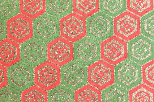 Hand-Dyed Yuzen Washi Paper - 006 Green