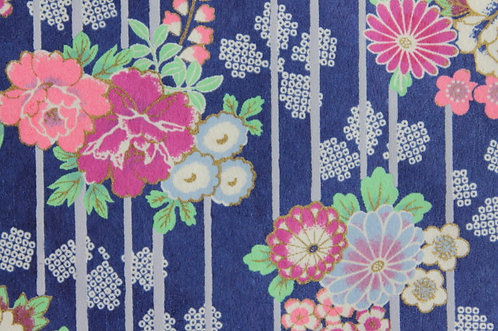 Hand-Dyed Yuzen Washi Paper - 055 Purple