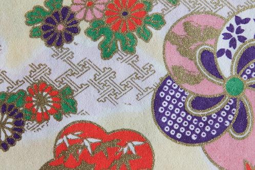 Hand-Dyed Yuzen Washi Paper - 011 Blue Pink