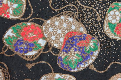 Hand-Dyed Yuzen Washi Paper - 032 Black