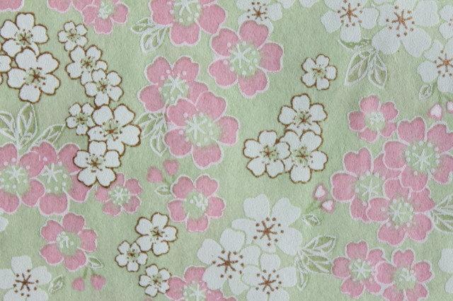 Hand-Dyed Yuzen Washi Paper - 050 Green