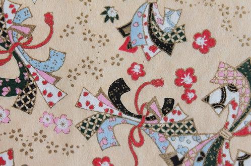 Hand-Dyed Yuzen Washi Paper - 047 Cream
