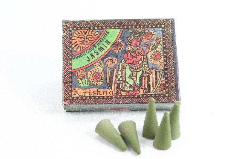 Hindu Gods Incense Cone - Jasmin
