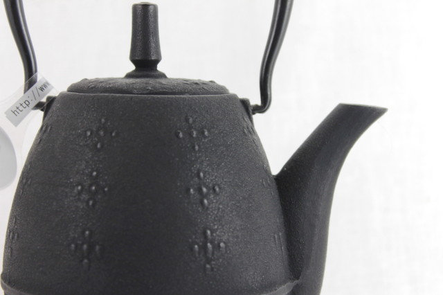 "Teapot ""RICE"" Black - Cast Iron"