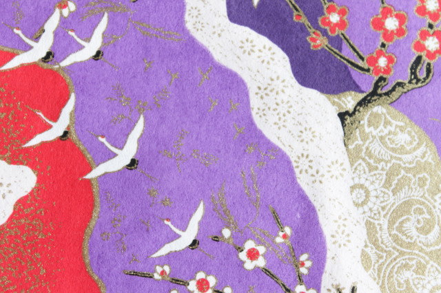 Hand-Dyed Yuzen Washi Paper - 003 Purple