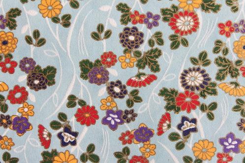 Hand-Dyed Yuzen Washi Paper - 029 Light-Blue