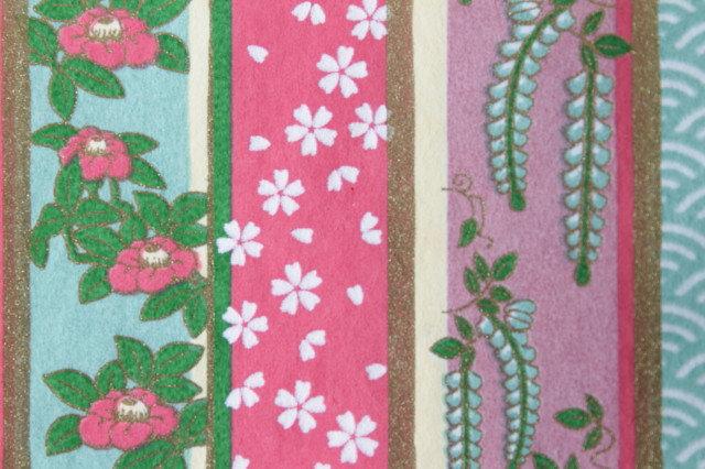 Hand-Dyed Yuzen Washi Paper - 014 Pink
