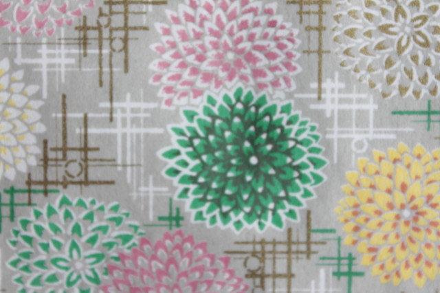 Hand-Dyed Yuzen Washi Paper - 057 Gray-Green
