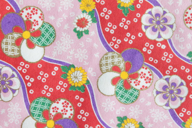 Hand-Dyed Yuzen Washi Paper - 053 Pink