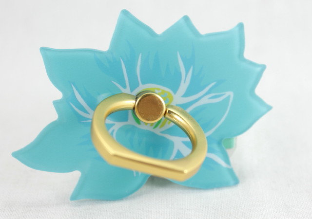 Smartphone Ring - Lotus Flower Blue