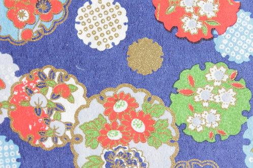 Hand-Dyed Yuzen Washi Paper - 001 Blue