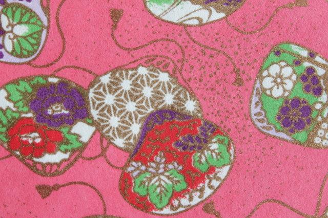 Hand-Dyed Yuzen Washi Paper - 032 Pink