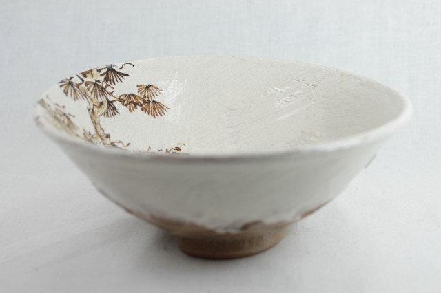 """""""Matsu"""" Pine tree Matcha bowl - Shigaraki-ware"""
