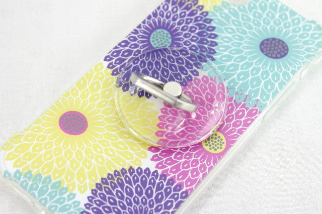 iPhone 7/8 Case with Ring - Chrysanthemum