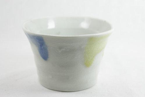 Blue and Grean Matcha bowl - Mino-ware