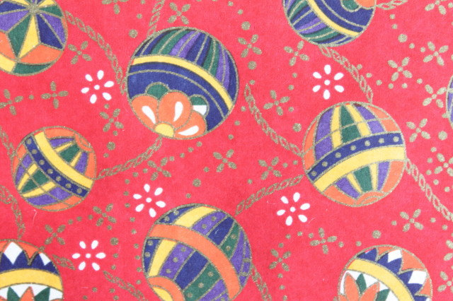 Hand-Dyed Yuzen Washi Paper - 021 Red