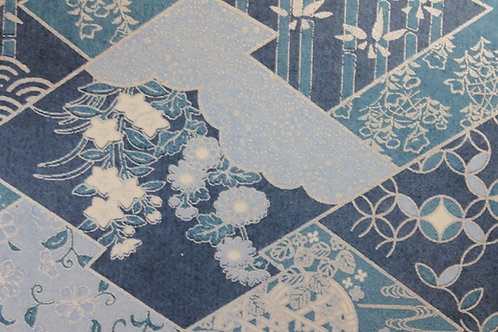 Hand-Dyed Yuzen Washi Paper - 028 Silver