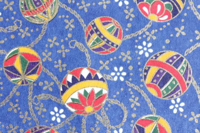 Hand-Dyed Yuzen Washi Paper - 021 Blue
