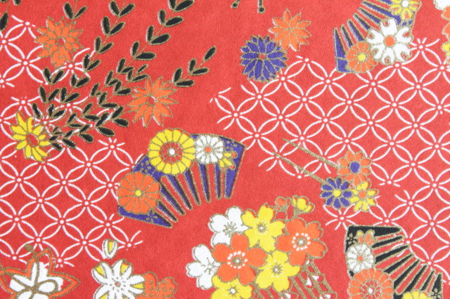 Hand-Dyed Yuzen Washi Paper - 002 Red