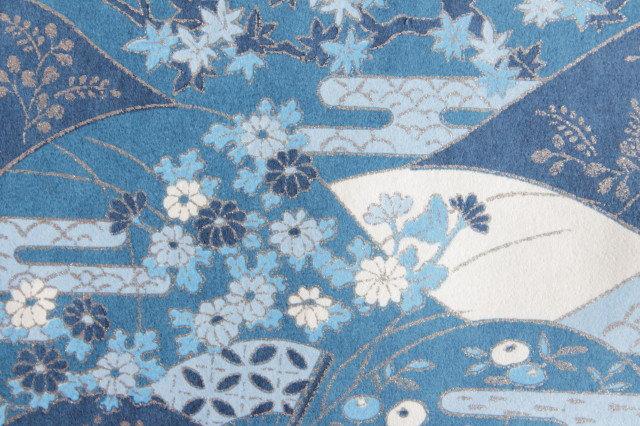 Hand-Dyed Yuzen Washi Paper - 022 Blue