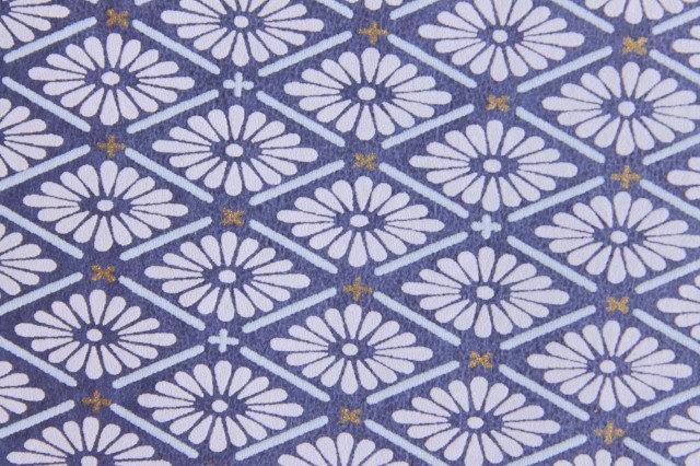 Hand-Dyed Yuzen Washi Paper - 012 Blue