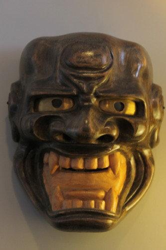 """Shishi-guchi"" Green - Noh Mask"