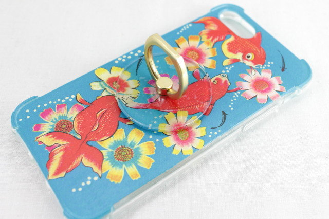 iPhone 7/8 Case with Ring - Goldfish