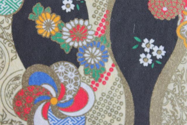 Hand-Dyed Yuzen Washi Paper - 027 Black