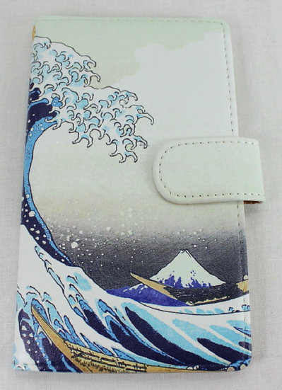 Wallet Mobile Phone Case Cover - Under the Wave off Kanagawa, Hokusai