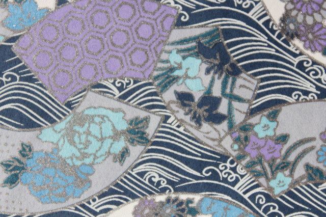 Hand-Dyed Yuzen Washi Paper - 026 Blue