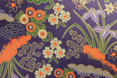 Hand-Dyed Yuzen Washi Paper - 024 Purple