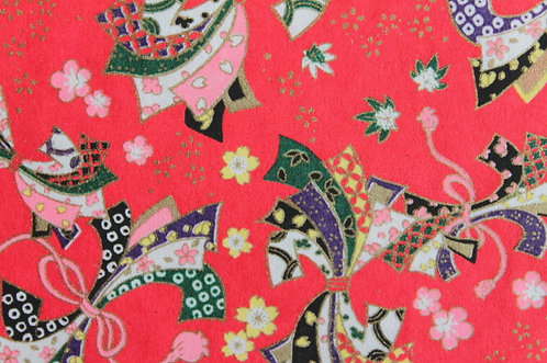 Hand-Dyed Yuzen Washi Paper - 047 Red