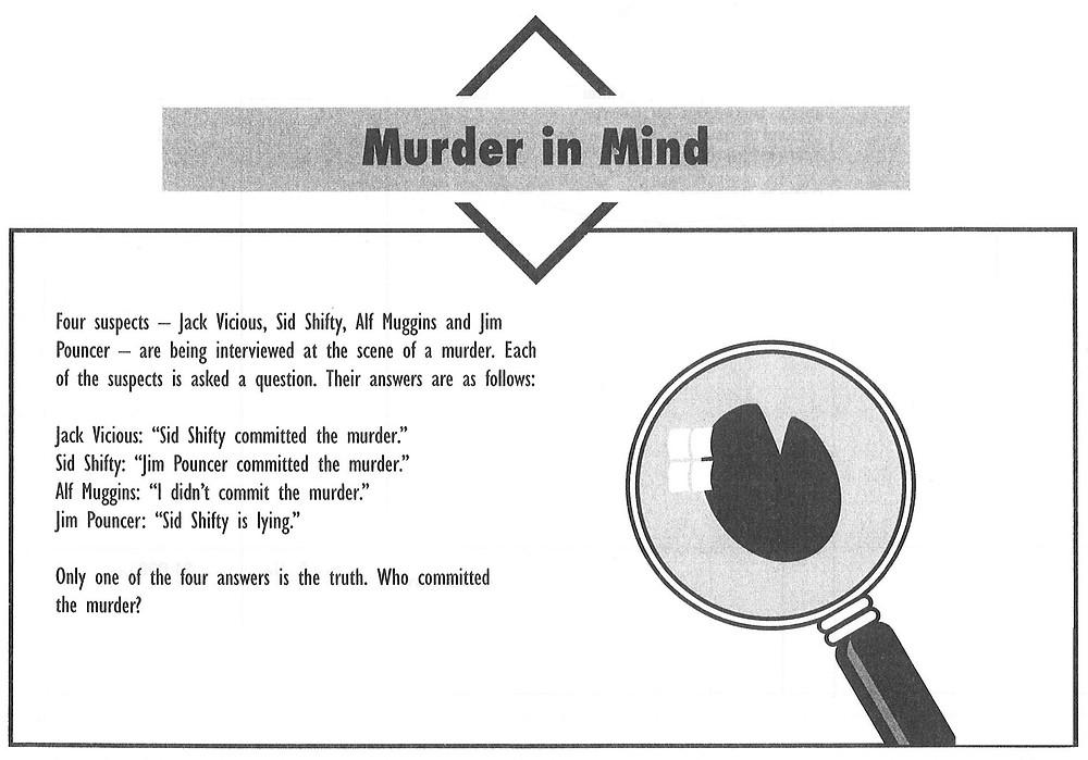Murder in Mind puzzle