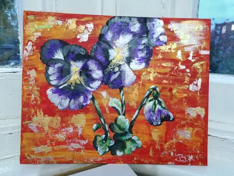 The vintage violets.