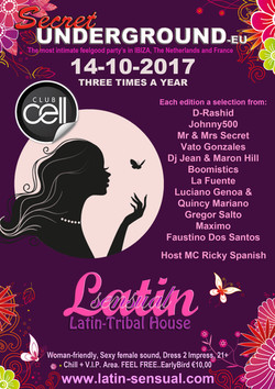 Latin-Sensual Flyer Club Cell Oktober